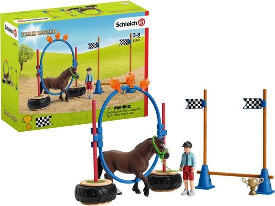 Schleich® Spielfigur »Farm World, Pony Agility Rennen (42482)«