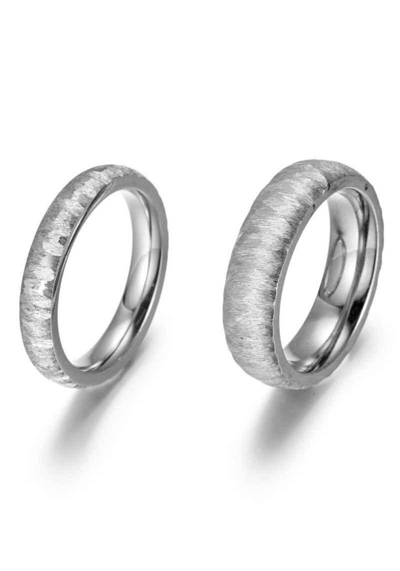 Firetti Trauring »4,0 mm, 6,0 mm, glänzend, strukturiert«