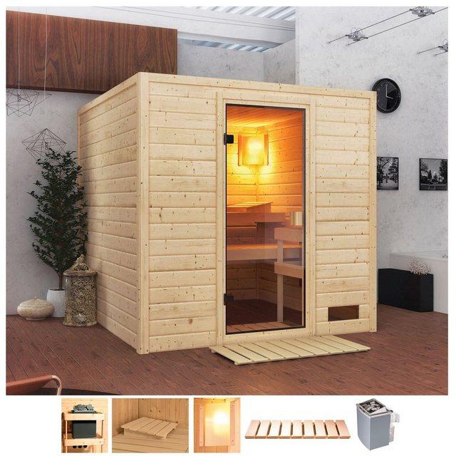Saunen und Zubehör - Karibu Sauna »Jacky«, BxTxH 195 x 195 x 187 cm, 38 mm, 4,5 kW Ofen mit int. Steuerung  - Onlineshop OTTO