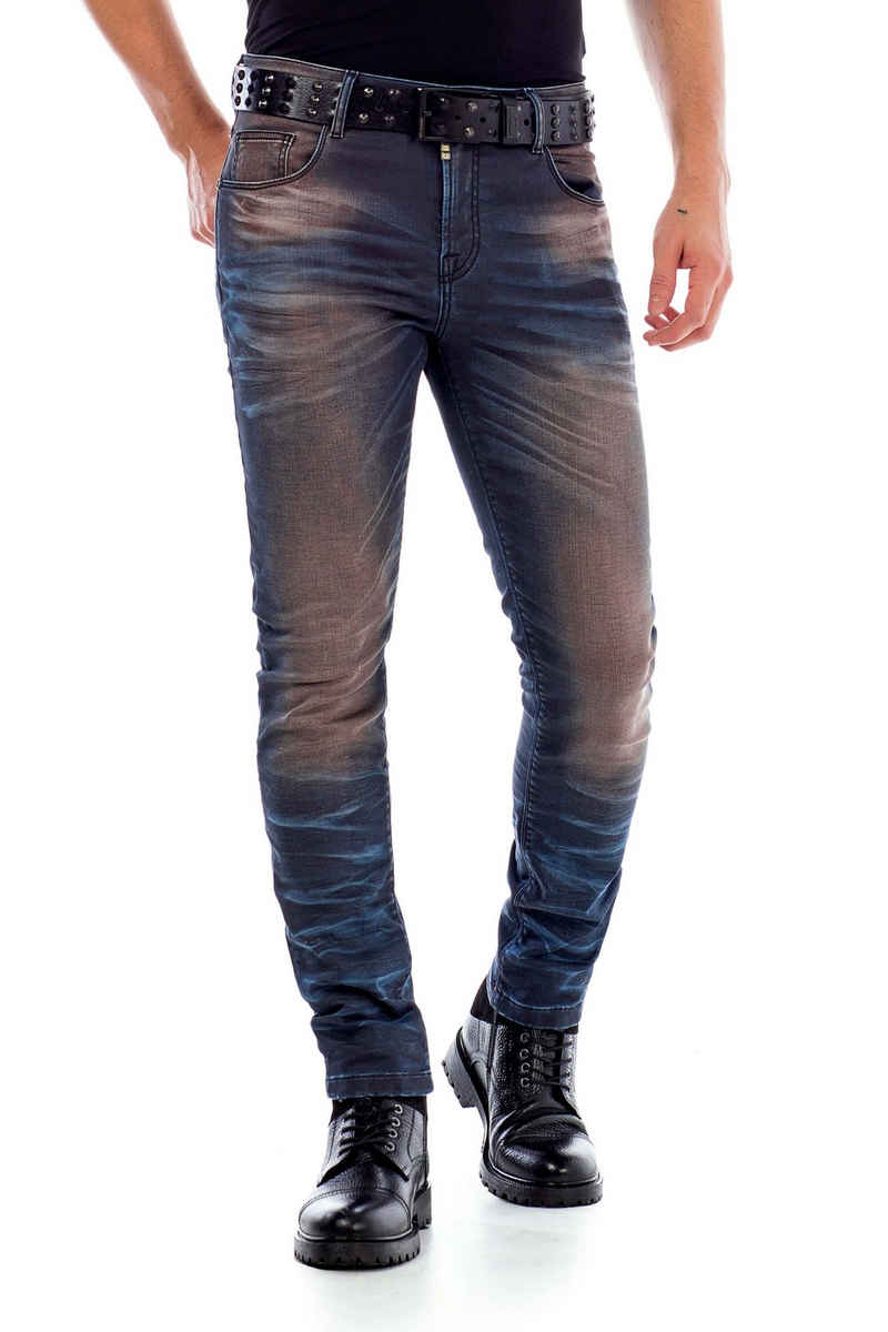 Cipo & Baxx Slim-fit-Jeans im 5-Pocket Style in Straight Fit