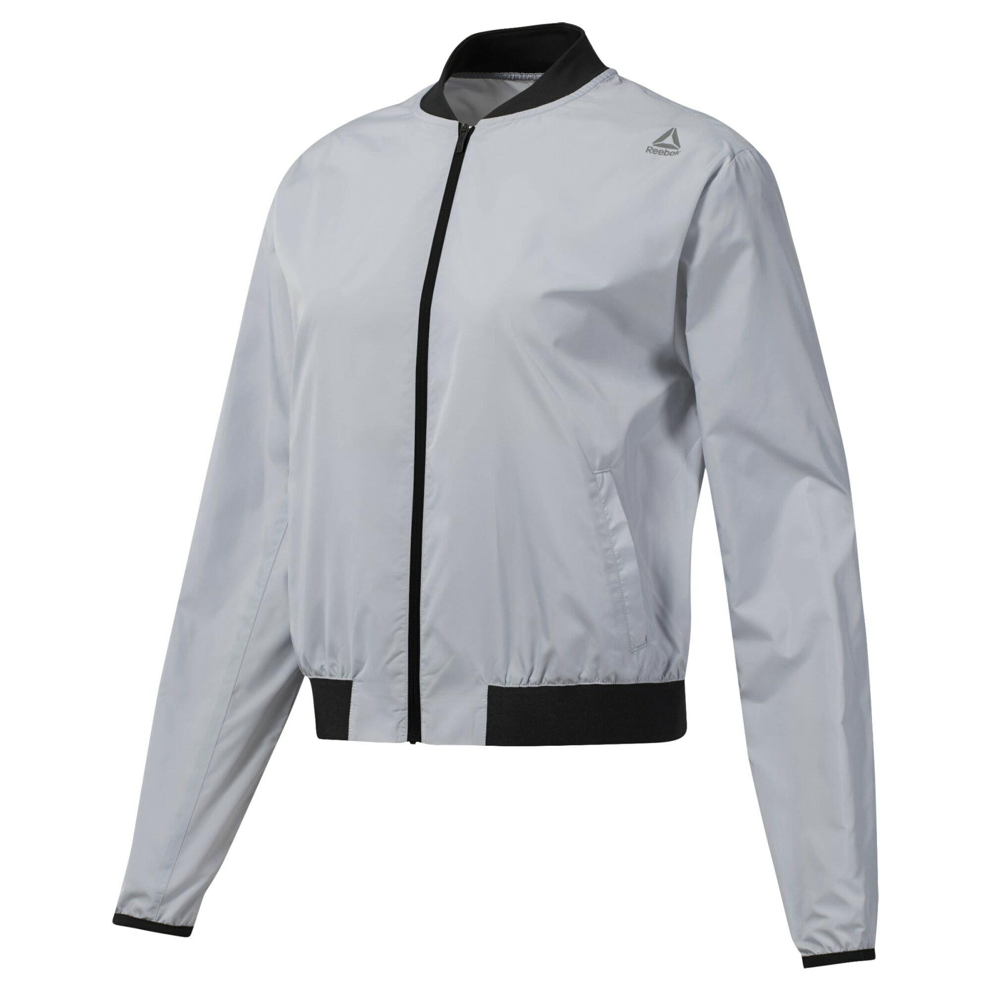 Reebok Trainingsjacke »WOR Woven Jacket«, Taftmaterial aus 100 % Polyester online kaufen | OTTO