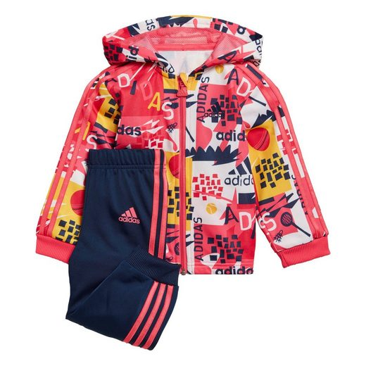 adidas Performance Trainingsanzug »Shiny Hooded Jogginganzug«
