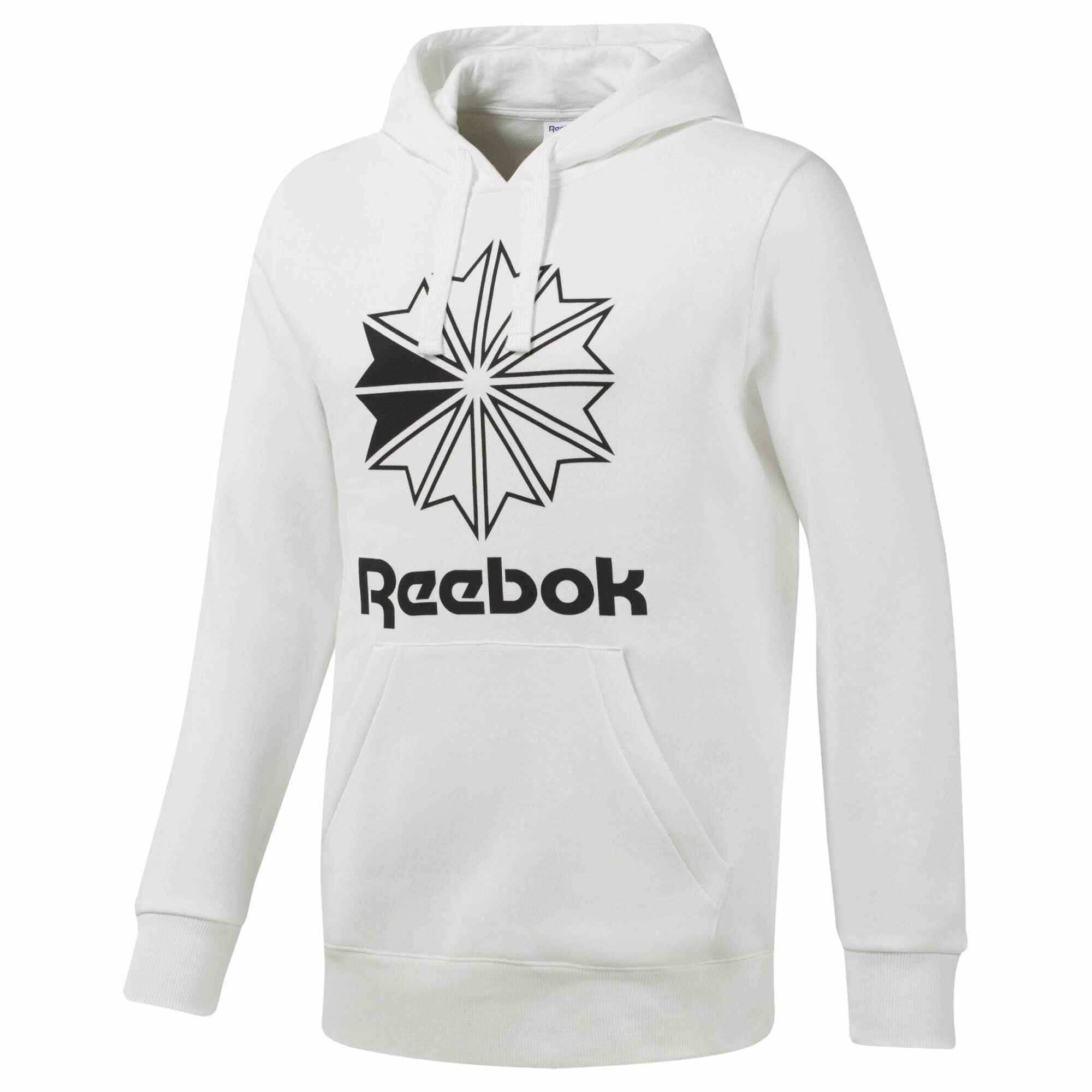 Reebok Classics Big Starcrest Logo Hoodie für Herren in grau