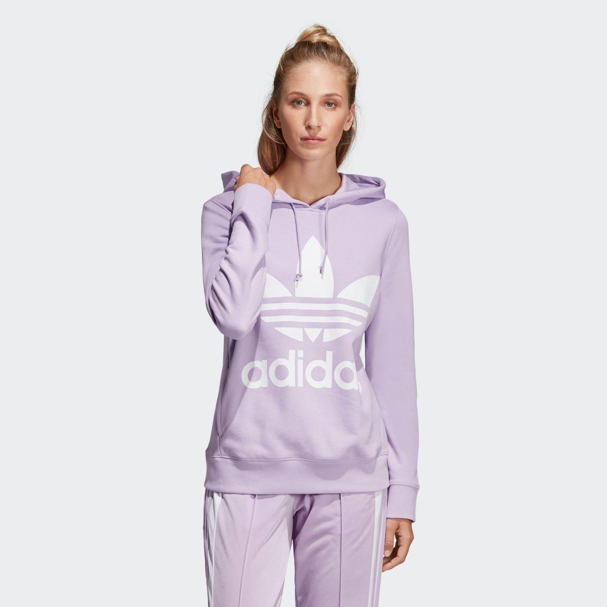 adidas Originals Trainingspullover »Trefoil Hoodie« adicolor, Langärmelig mit Rippbündchen online kaufen | OTTO