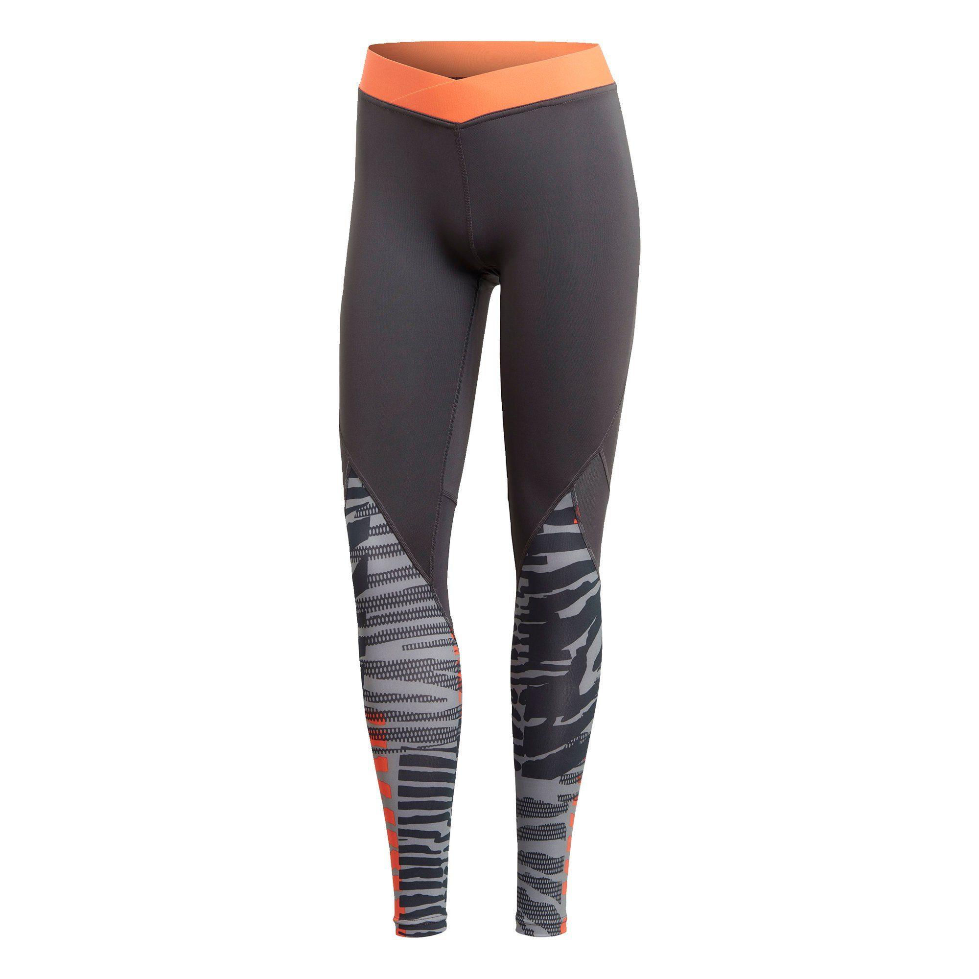 adidas Leggings, 34 Länge, atmungsaktiv, Logo Bund, für