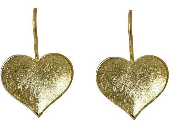 Gemshine Paar Ohrhänger »HERZ Matt«, Manufaktur