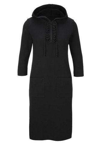 HEINE CASUAL megzta suknelė su gobtuvas