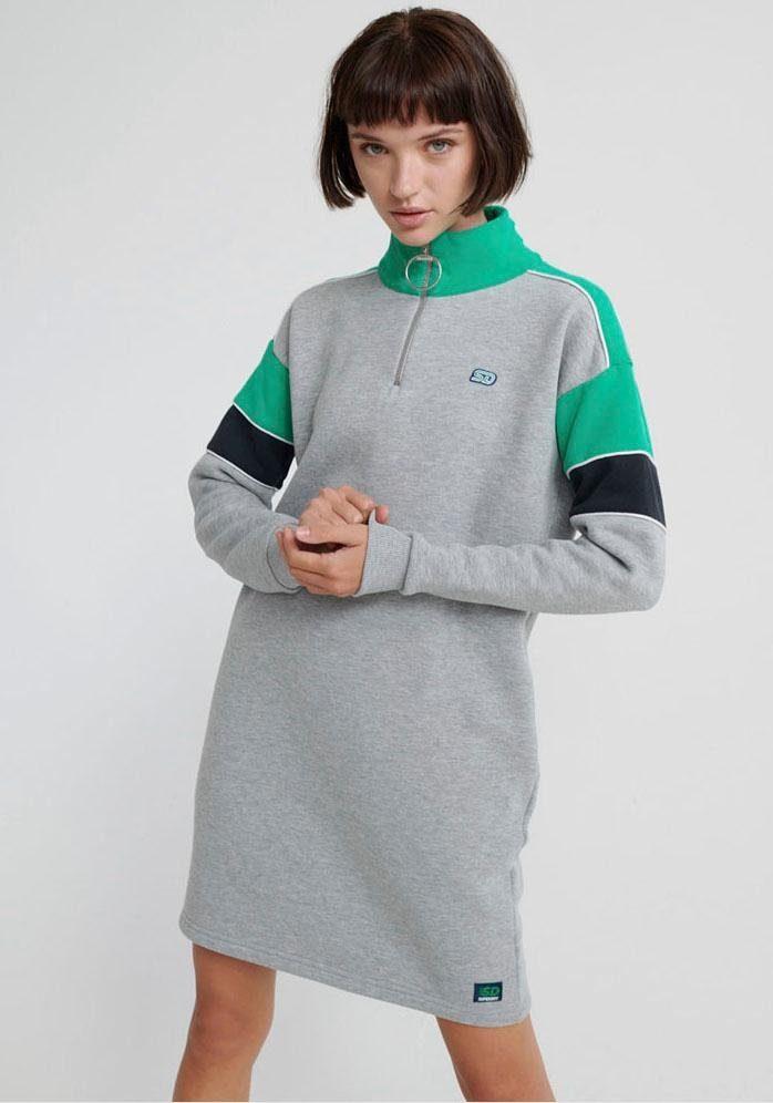 Superdry Sweatkleid »PANEL ZIP SWEAT DRESS« im angesagten Colourblocking Design online kaufen | OTTO