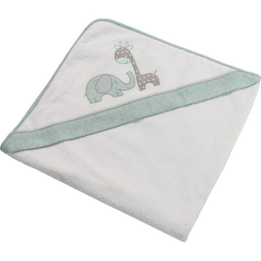 Be Be's Collection Kapuzenbadetuch Max & Mila, mint, 100 x 100 cm