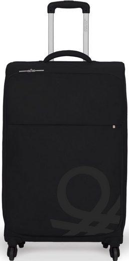 United Colors of Benetton Weichgepäck-Trolley »Blow, 57 cm, black«, 4 Rollen