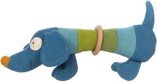 Sigikid Greifling »BABY STRICK Hund«, mit Rassel
