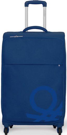 United Colors of Benetton Weichgepäck-Trolley »Blow, 57 cm, Royal Blue«, 4 Rollen