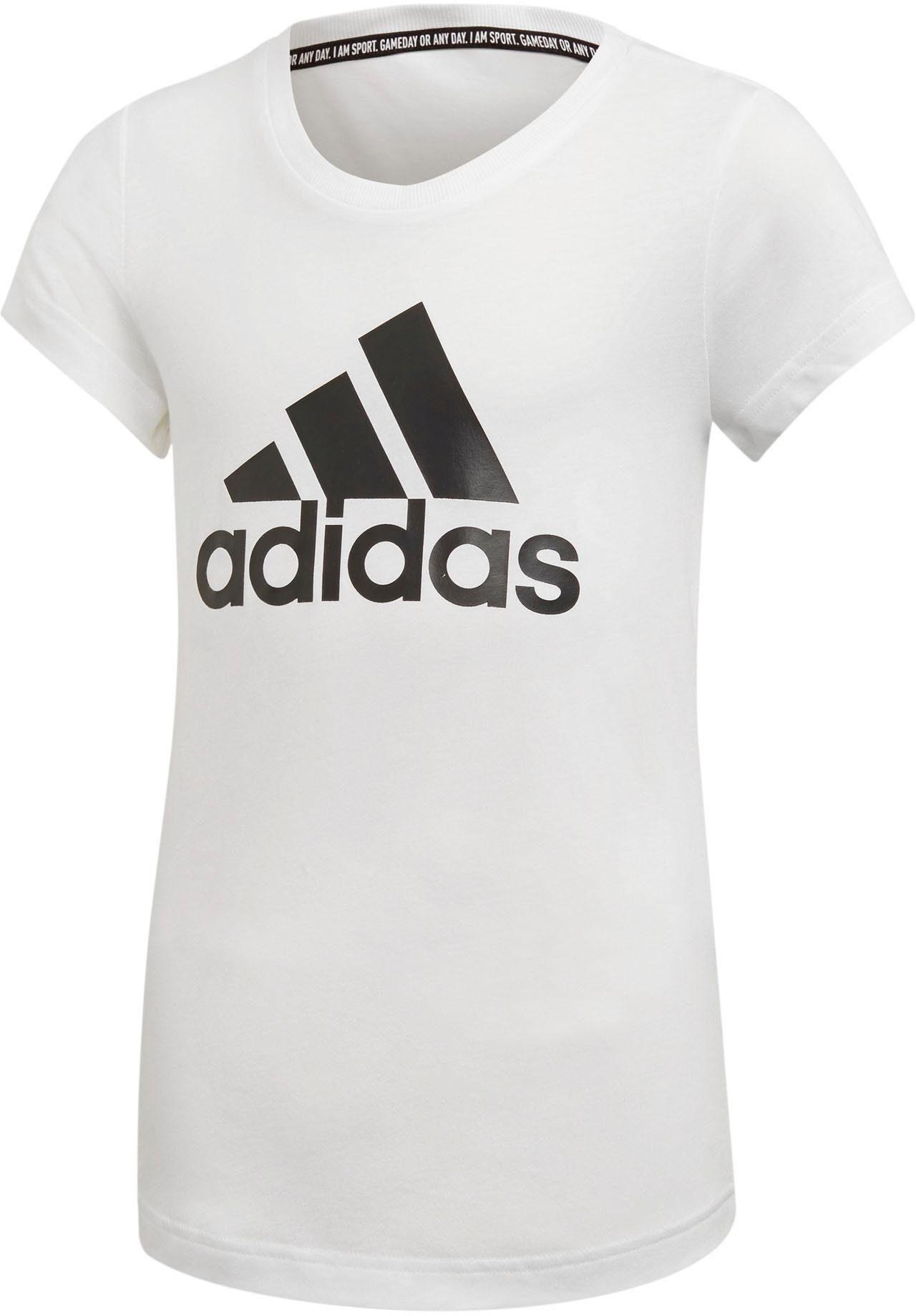 Adidas Performance T-shirt »aop Linear Tee« Auch In Großen Größen Pink