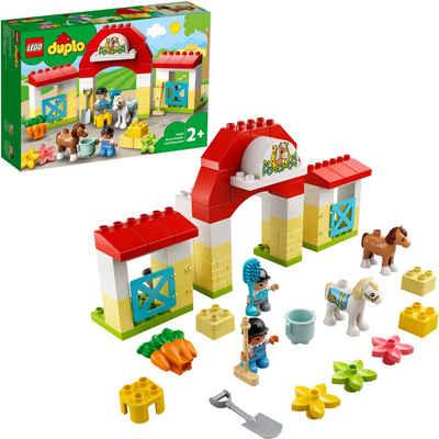LEGO® Konstruktionsspielsteine »Pferdestall und Ponypflege (10951), LEGO® DUPLO® Town«, (65 St), Made in Europe