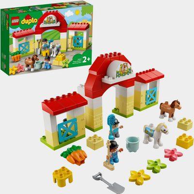 Konstruktionsspielsteine »Pferdestall und Ponypflege (10951), LEGO® DUPLO® Town«, (65 St), Made in Europe