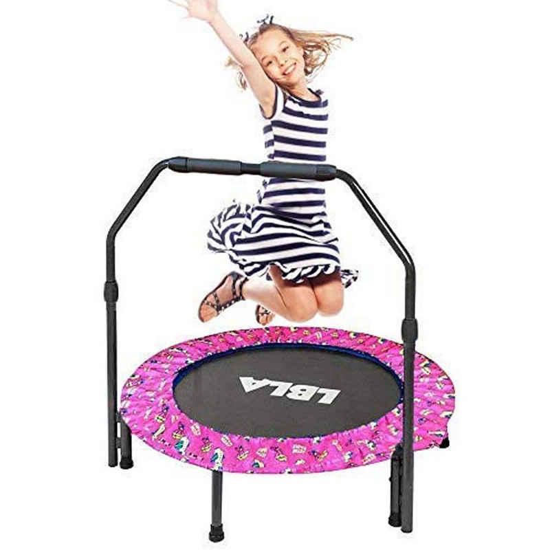 LBLA Kindertrampolin, Kinder-Trampolin, Ø 90cm,Mini-Trampolin für Kinder mit gepolsterter Sicherheitsabdeckung, faltbares Trampolin für Kinder Training & Spielen drinnen oder draußen