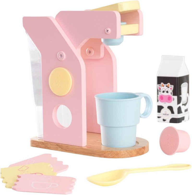 KidKraft® Kinder-Kaffeemaschine »Spielset Kaffee, Pastellfarben«, (10-tlg), mit Tasse und Zubehör