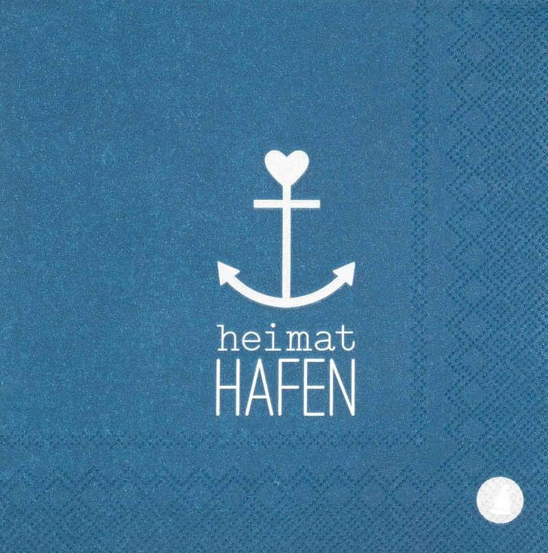 Räder Design Papierserviette »Meer als Worte«, Heimat Hafen