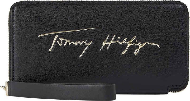 Tommy Hilfiger Geldbörse »ICONIC TOMMY LRG ZA SIGN«, mit Handschlaufe