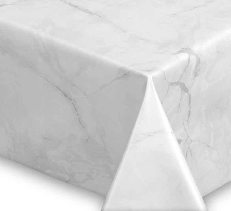 Beautex Tischdecke »Wachstuchtischdecke abwischbar, OVAL RUND ECKIG, fleckenabweisende Gartentischdecke Marmorstein, zuschneidbare Wachstuch Tischdecke« (1-tlg)