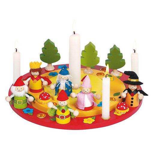 goki Kerzenständer »Geburtstagskranz mit Figurenset«