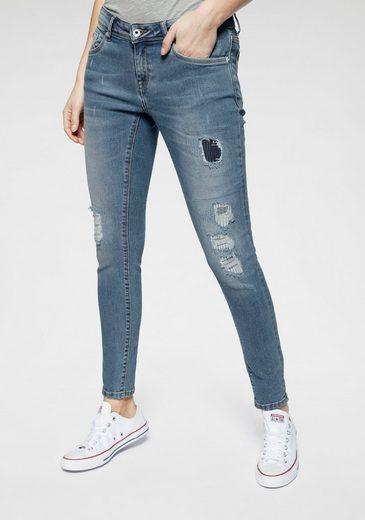 Superdry Skinny-fit-Jeans »CASSIE SKINNY« im Used-Look