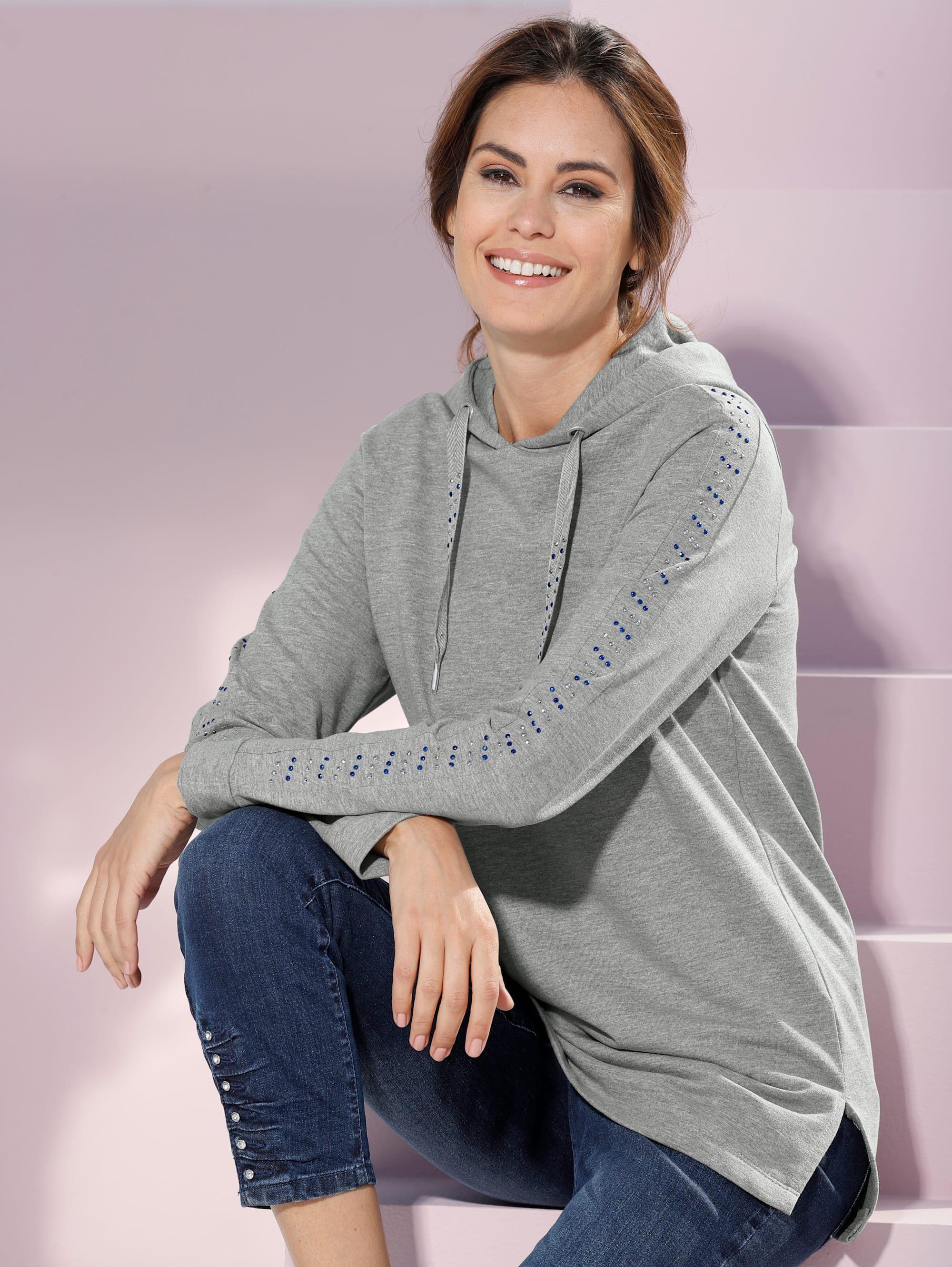 Laura Kent Sweatshirt mit kontrastfarbenen Nieten
