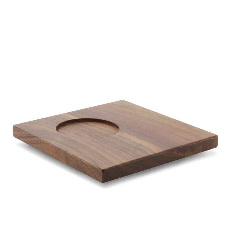 Friesland Porzellan Untertasse »Friesland Untertasse aus Holz 13cm Chai Nussbaum«, (1 Stück), Made in Germany
