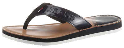 Tommy Jeans »IRIDESCENT BEACH SANDAL« Zehentrenner in glänzender Optik