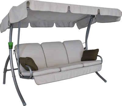Angerer Freizeitmöbel Hollywoodschaukel »Comfort Style«, 3-Sitzer, Bettfunktion, inkl. Auflagen und Zierkissen