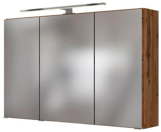 HELD MÖBEL Spiegelschrank »Baabe« Breite 100 cm, mit 3D-Effekt, dank 3 Spiegeltüren