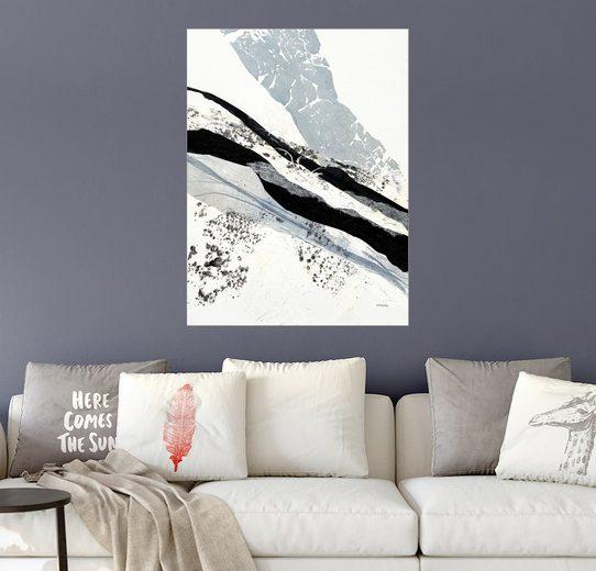 Posterlounge Wandbild, Silberne Blattfäden