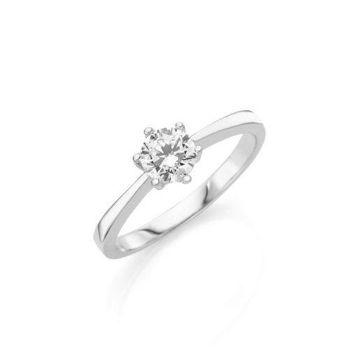 Smart Jewel Verlobungsring »bezaubernd und klassisch, Zirkonia Stein, Silber 925«