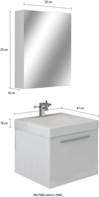 Badezimmer Sets - SalesFever Badmöbel Set »389713«, (2 St)  - Onlineshop OTTO