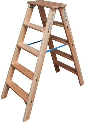 KRAUSE Doppelleiter »STABILO« Holz 2x5 Stufen...