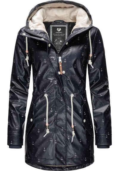 Ragwear Wintermantel »Monadis Rainy Black Label« modischer Outdoor Parka