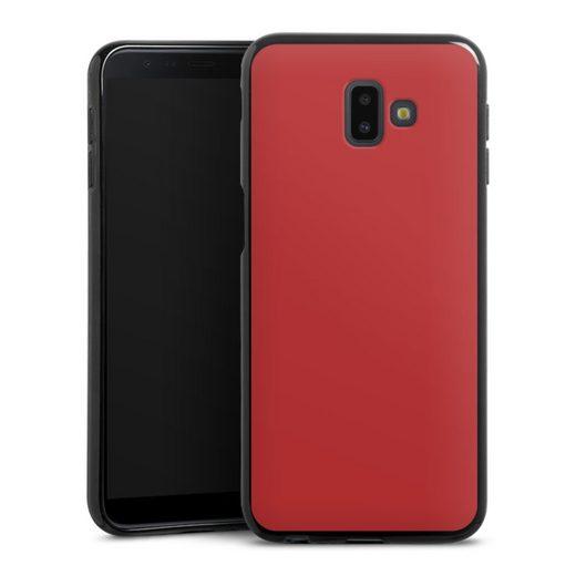 DeinDesign Handyhülle »Karminrot« Samsung Galaxy J6 Plus Duos (2018), Hülle Rot einfarbig Thermomixmotive