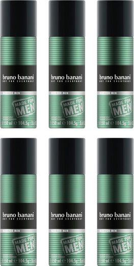 Bruno Banani Deo-Spray »Made for Men«, Set, 6-tlg.