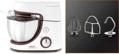 Krups Küchenmaschine Master Perfect Duo KA51K1, 1100 W, 4,6 l Schüssel, Backen mit Kindern; 8 Geschwindigkeiten und Pulse-Funktion; 4,6L Edelstahl-Schüssel; Flex-Whisk-Technologie; Kinder-Backset