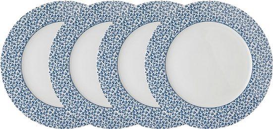 LAURA ASHLEY BLUEPRINT COLLECTABLES Speiseteller »Floris«, (4 Stück), Porzellan, 26 cm