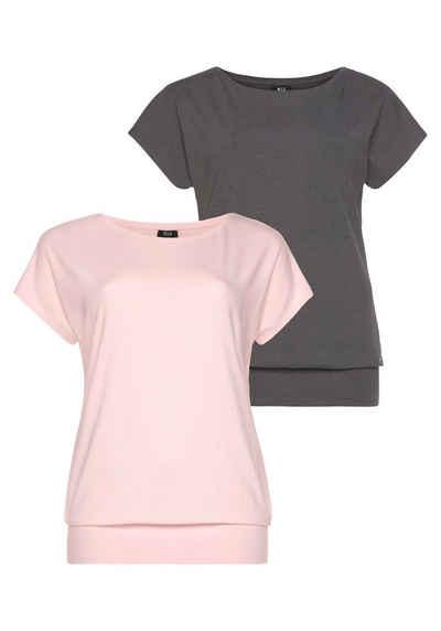 H.I.S T-Shirt »Nachhaltige LENZING™ ECOVERO™ Viskose« (2er-Pack) in großen Größen