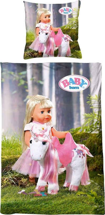 Kinderbettwäsche »Baby Born Einhorn«, Baby Born, mit süßen Motiven