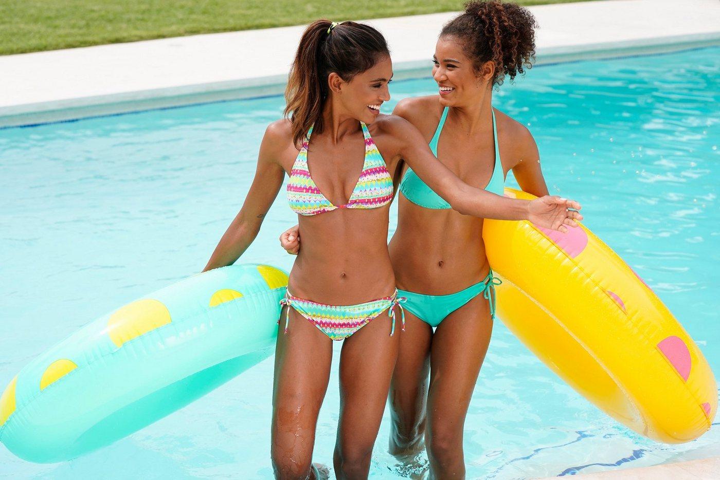 Bademode - Homeboy Triangel Bikini (2 St) im Doppelpack › blau  - Onlineshop OTTO
