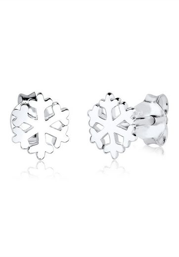 Elli Paar Ohrstecker »Schneeflocke Eis Winter Schnee Filigran 925 Silber«, Schneeflocke