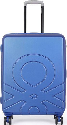 United Colors of Benetton Hartschalen-Trolley »Ultra Logo, 78 cm, Royal Blue«, 4 Rollen