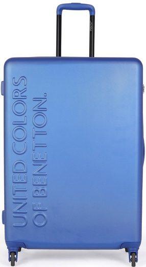 United Colors of Benetton Hartschalen-Trolley »UCB, 64 cm, Royal Blue«, 4 Rollen