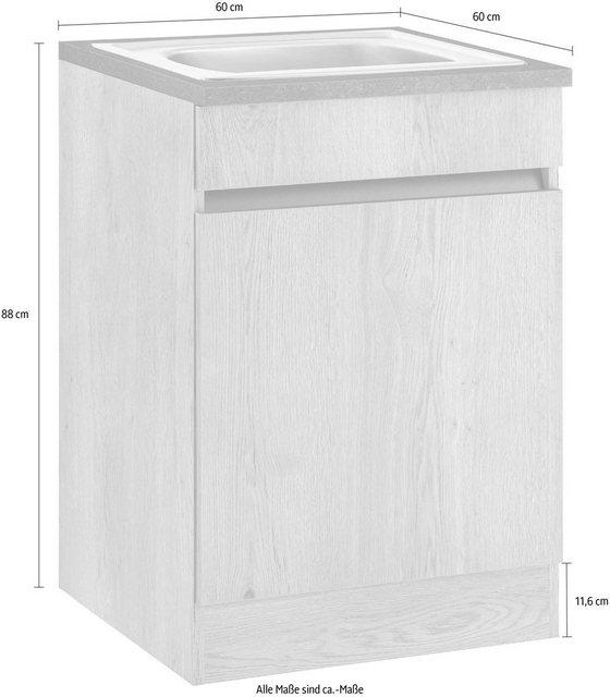 OPTIFIT Spülenschrank »Roth« Breite 60 cm   Küche und Esszimmer > Küchenschränke > Spülenschränke   OPTIFIT