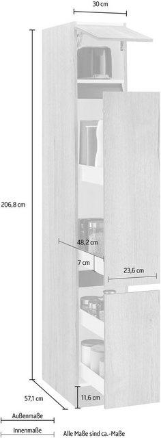 OPTIFIT Apothekerschrank »Roth« Breite 30 cm | Küche und Esszimmer > Küchenschränke > Apothekerschränke | OPTIFIT