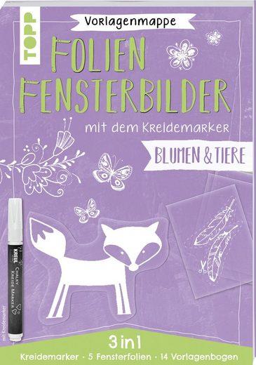 """Topp Buch """"Folien-Fensterbilder mit dem Kreidemarker - Blumen/Tiere"""""""