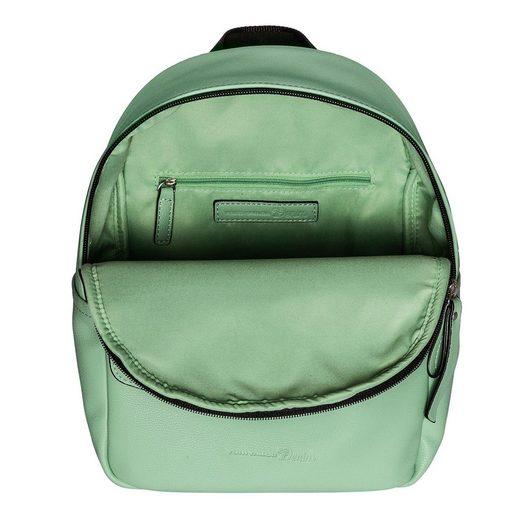 TOM TAILOR Denim Cityrucksack »Maia«  mit trendigem Marken-Durck auf den Schultergurten